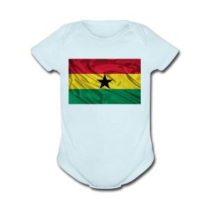 Ghana-Flag - Short Sleeve Baby Bodysuit