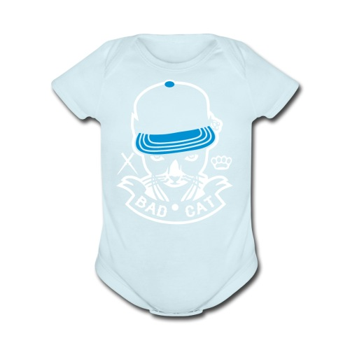 Bad Cat Geddo Cat - Organic Short Sleeve Baby Bodysuit
