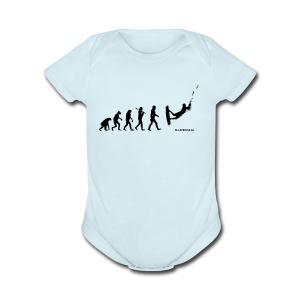 Kite surfing Evolution - Short Sleeve Baby Bodysuit