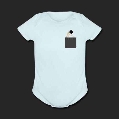 Pocket Pug - Organic Short Sleeve Baby Bodysuit