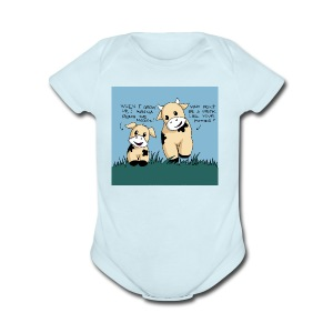 cow tales - Short Sleeve Baby Bodysuit