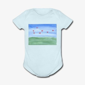 abstract nature - Short Sleeve Baby Bodysuit