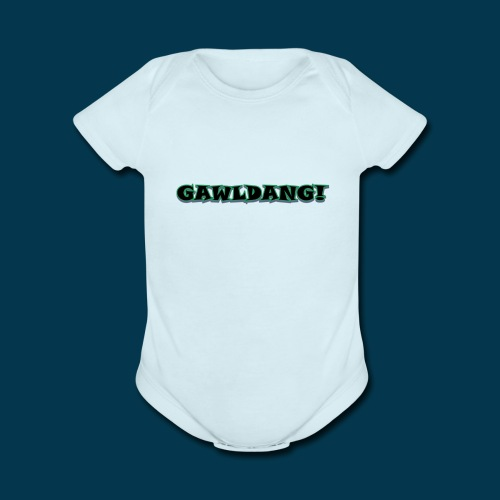 GAWLDANG (Black) - Organic Short Sleeve Baby Bodysuit