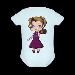 Anime Chibi Girl - Short Sleeve Baby Bodysuit