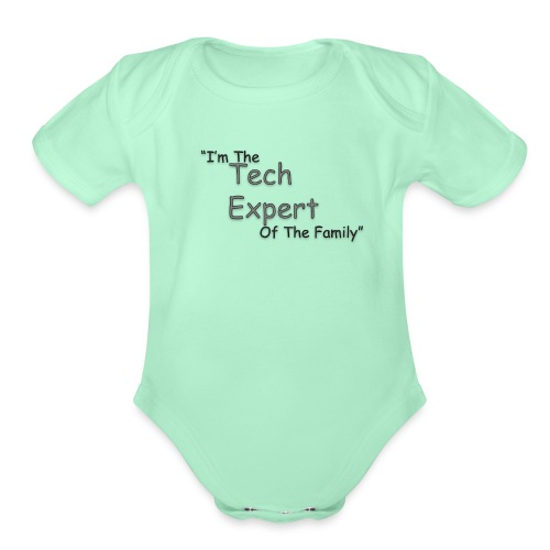 Tech Expert - Organic Short Sleeve Baby Bodysuit