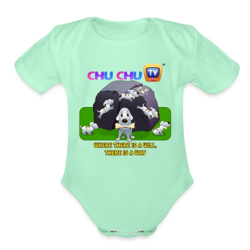 Motivation Slogan 9 - Organic Short Sleeve Baby Bodysuit