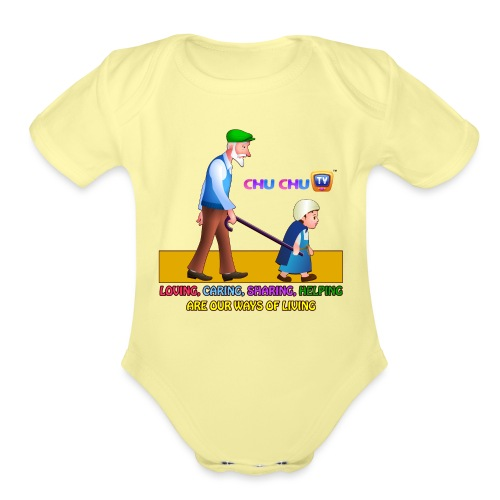 Motivational Slogan 2 - Organic Short Sleeve Baby Bodysuit
