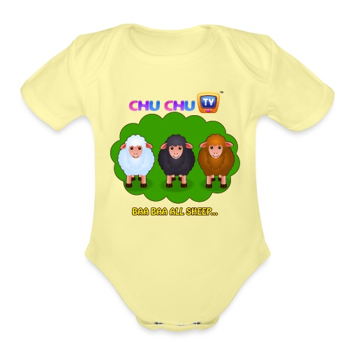 Motivational Slogan 4 - Organic Short Sleeve Baby Bodysuit