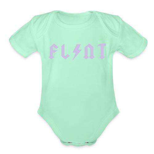 Flint Bolt - Organic Short Sleeve Baby Bodysuit