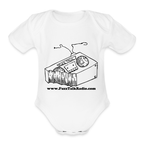 FTRLogoBlackAddress - Organic Short Sleeve Baby Bodysuit