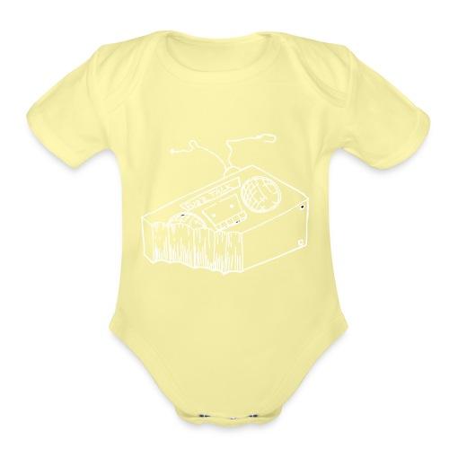FTRLogoWhite - Organic Short Sleeve Baby Bodysuit
