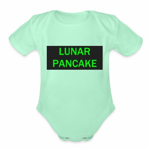 Lunar Pancake Merch - Organic Short Sleeve Baby Bodysuit
