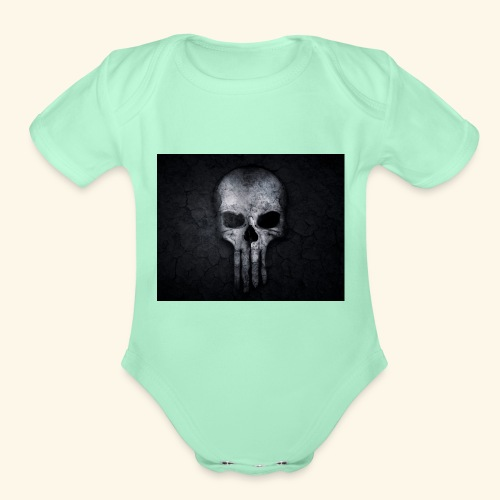 skull and crossbones 2077840 1920 - Organic Short Sleeve Baby Bodysuit