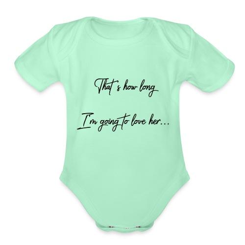 longloveher - Organic Short Sleeve Baby Bodysuit