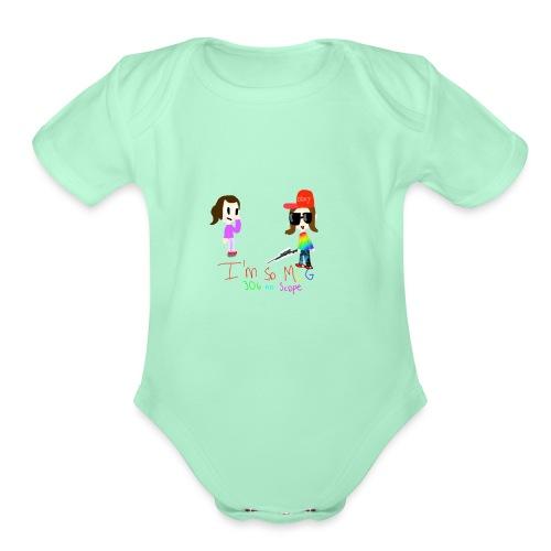 I'm so MLG - Organic Short Sleeve Baby Bodysuit