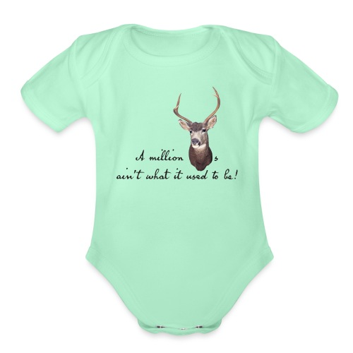 Million dollars - Organic Short Sleeve Baby Bodysuit