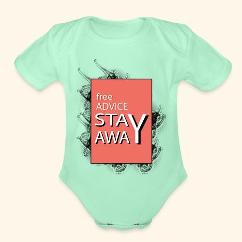 free advice - Organic Short Sleeve Baby Bodysuit