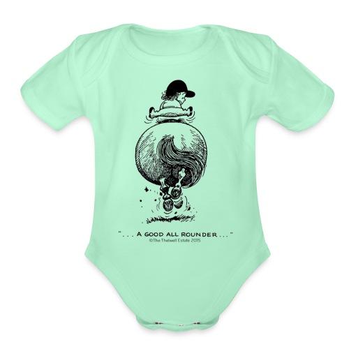 PonyGalopp Thelwell Cartoon - Organic Short Sleeve Baby Bodysuit