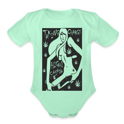 tees_three - Organic Short Sleeve Baby Bodysuit