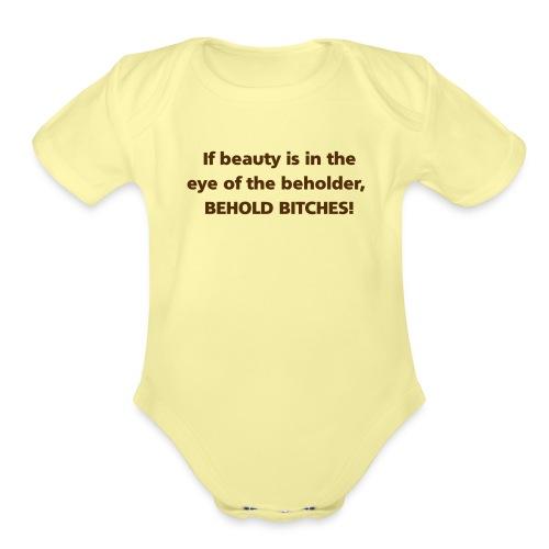 beauty - Organic Short Sleeve Baby Bodysuit