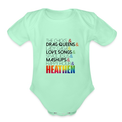 Heathen Happy Hour Version New! - Organic Short Sleeve Baby Bodysuit
