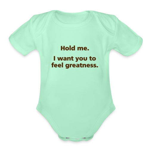 holdme simple - Organic Short Sleeve Baby Bodysuit