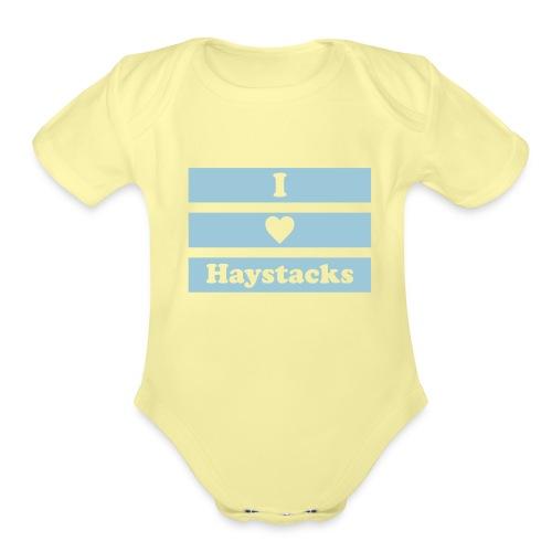 haystack 1 color vector - Organic Short Sleeve Baby Bodysuit