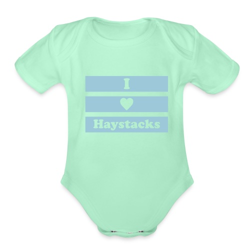 haystack 1 color vector - Organic Short Sleeve Baby Bodysuit