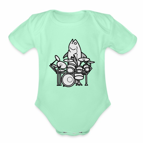 fishsolo - Organic Short Sleeve Baby Bodysuit