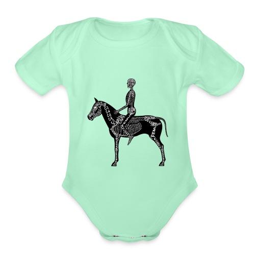 Skeleton Equestrian - Organic Short Sleeve Baby Bodysuit