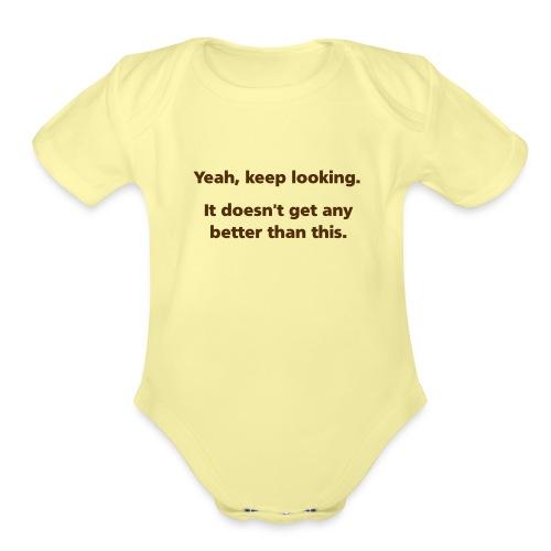 keeplooking simple - Organic Short Sleeve Baby Bodysuit