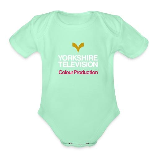 York Shire TV Symbol - Organic Short Sleeve Baby Bodysuit