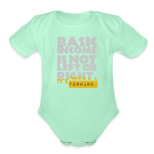 UBI is not Left or Right - Organic Short Sleeve Baby Bodysuit