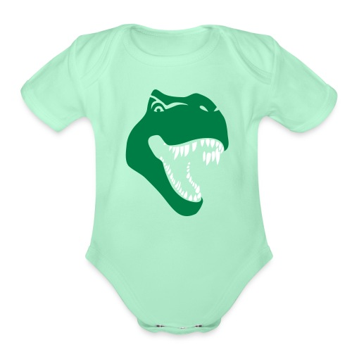 tyrannosaurus rex t-rex dino dinosaur jurassic - Organic Short Sleeve Baby Bodysuit