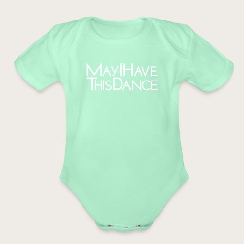 MAYI white logo - Organic Short Sleeve Baby Bodysuit