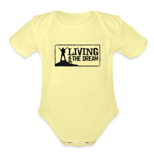 Women's Living the Dream Long-Sleeve T-Shirt - Organic Short Sleeve Baby Bodysuit