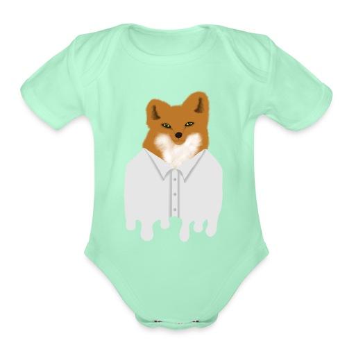 Fancy Fox - Organic Short Sleeve Baby Bodysuit