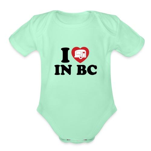 I Love Camping in BC - Organic Short Sleeve Baby Bodysuit