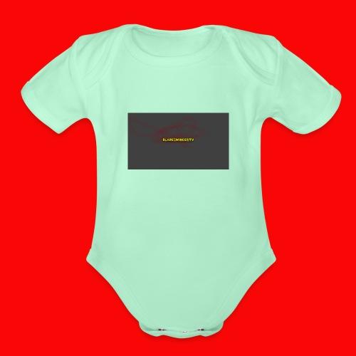 BladeSwinger TV Men - Organic Short Sleeve Baby Bodysuit
