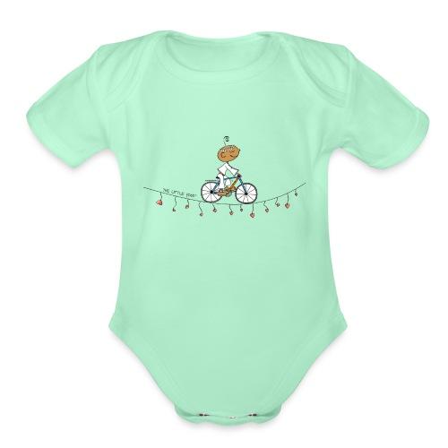 Follow your Heart - Organic Short Sleeve Baby Bodysuit