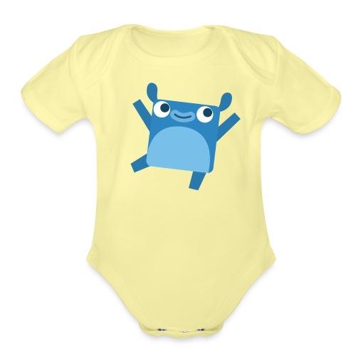 Little Blue Gear - Organic Short Sleeve Baby Bodysuit