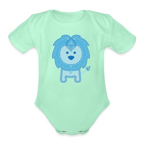 Baby Lion - Organic Short Sleeve Baby Bodysuit