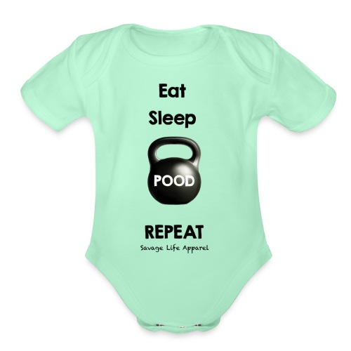 eatsleeppoodrepeat - Organic Short Sleeve Baby Bodysuit