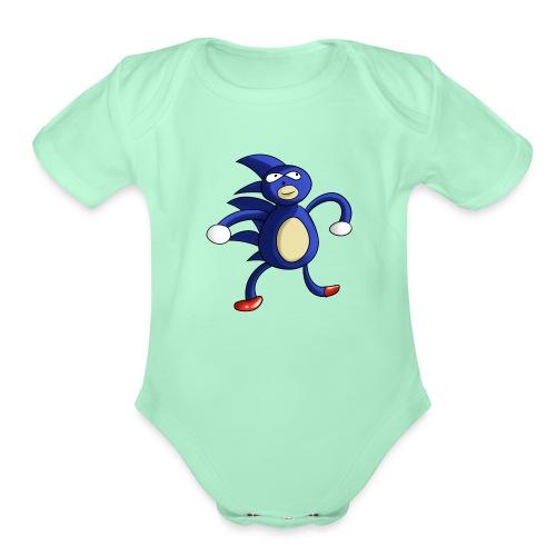 Sanic - Organic Short Sleeve Baby Bodysuit
