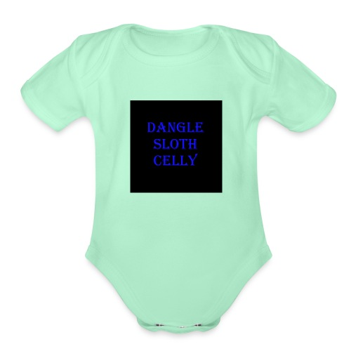 danglesloth - Organic Short Sleeve Baby Bodysuit