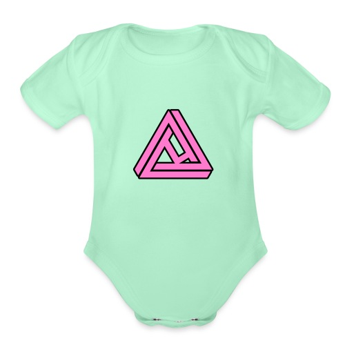 Breast Cancer Awareness Logo - Organic Short Sleeve Baby Bodysuit