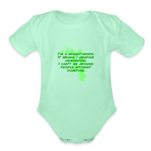 GO GREEN! - Organic Short Sleeve Baby Bodysuit