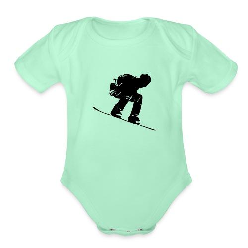 Snowboard - Organic Short Sleeve Baby Bodysuit
