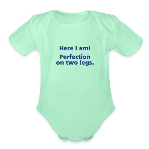 perfection simple - Organic Short Sleeve Baby Bodysuit