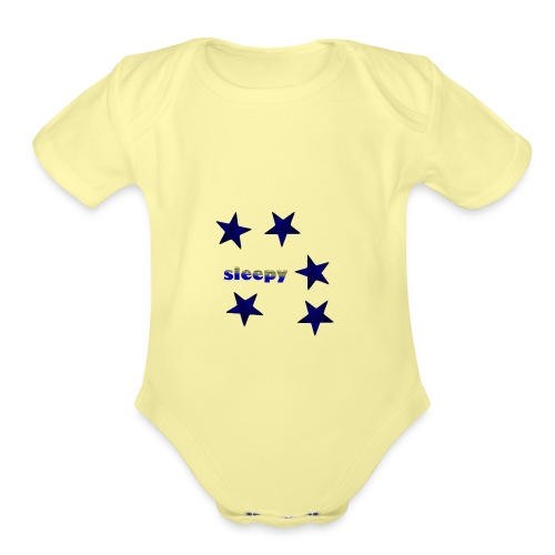 Sleepy - Organic Short Sleeve Baby Bodysuit
